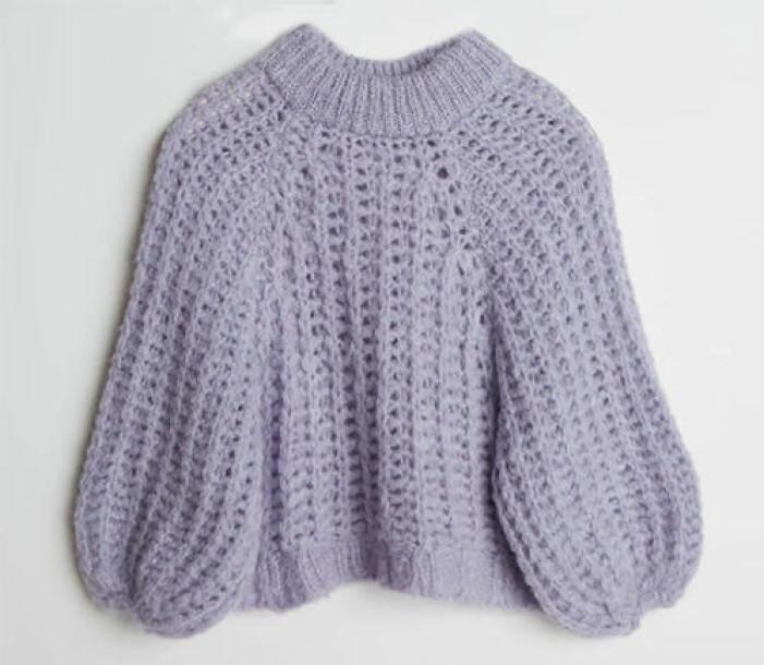 lila stickad tröja till dam från Gina tricot