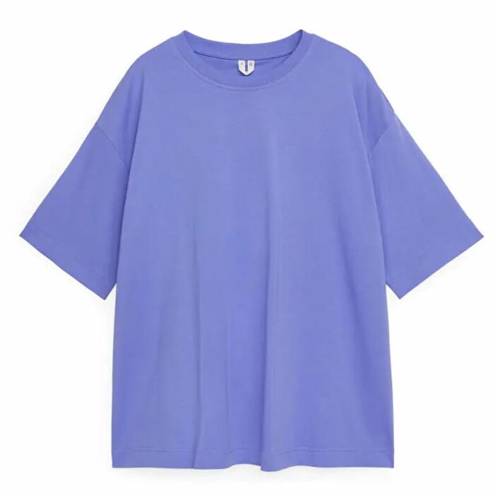 lila boxig tshirt