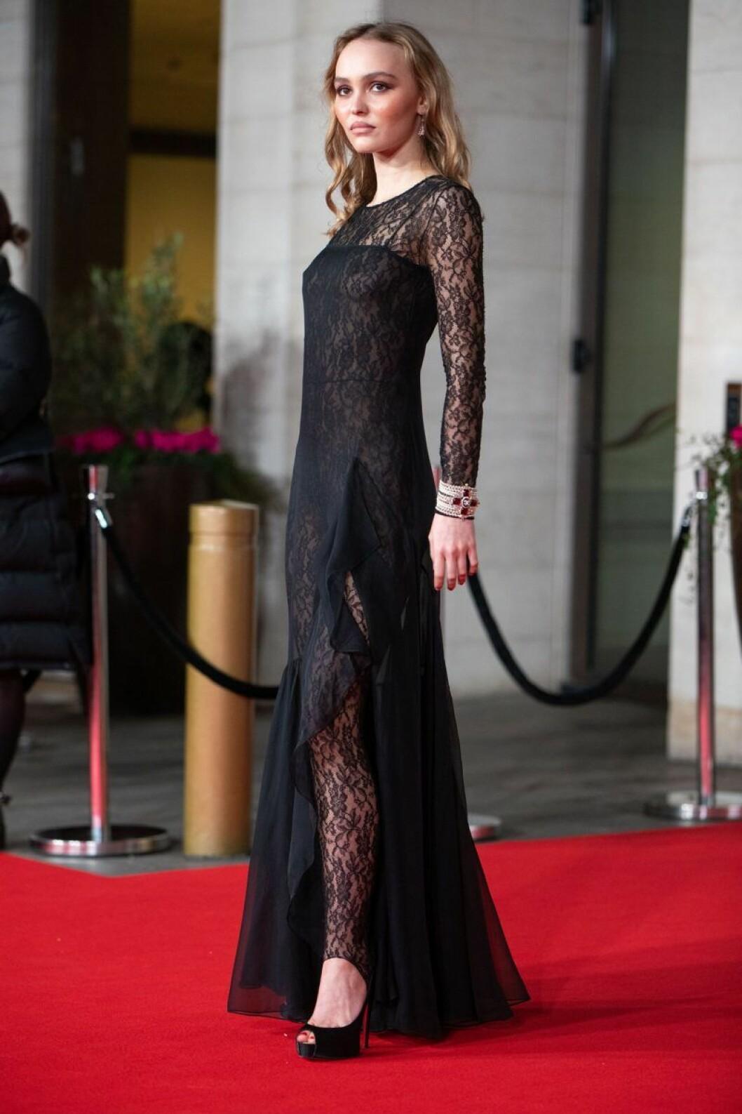 Lily Rose Depp på Bafta-galan 2020.