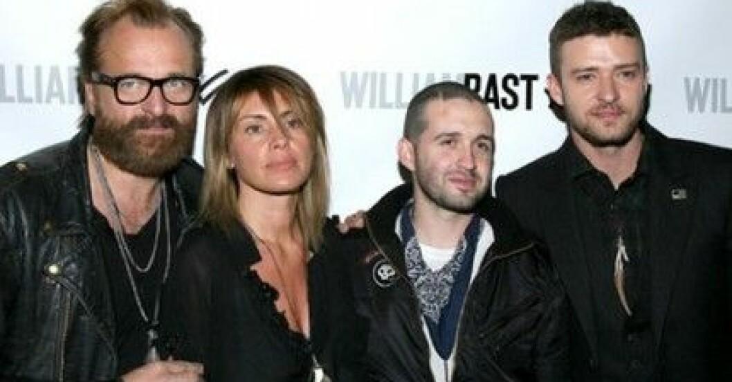 Johan Lindeberg, Marcella Lindeberg, Trace Ayala och Justin Timberlake.
