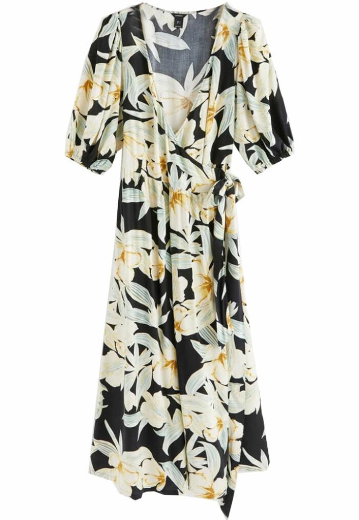 blommig långklänning från lindex