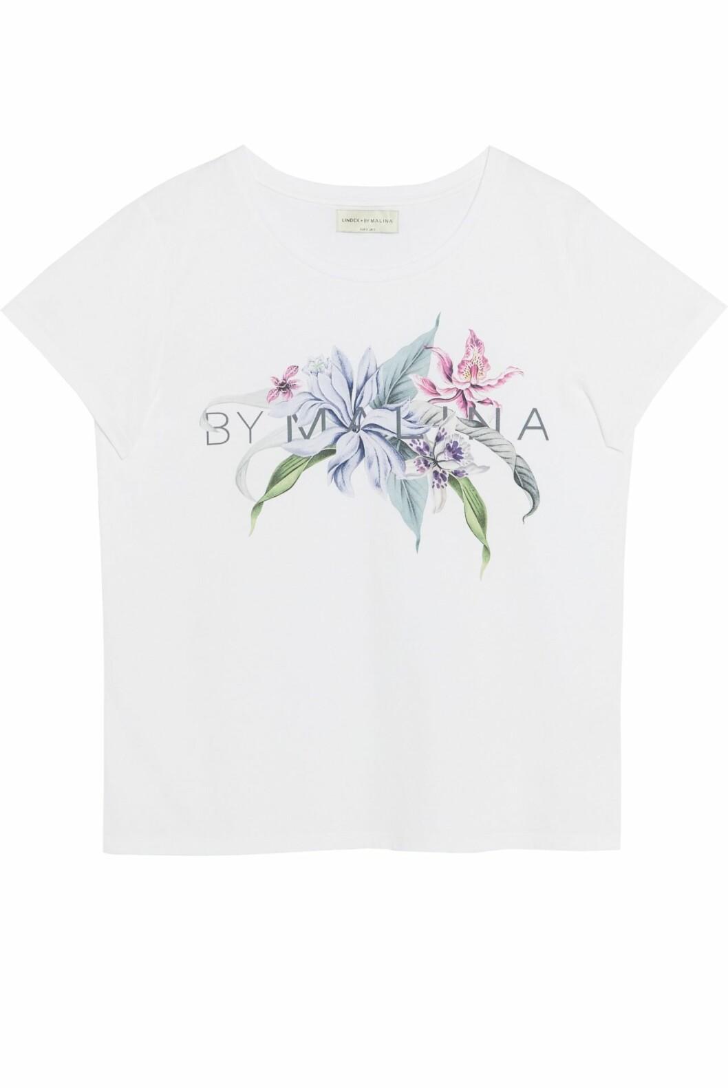 Lindex och By Malinas sommarkollektion – vit t-shirt med tryck