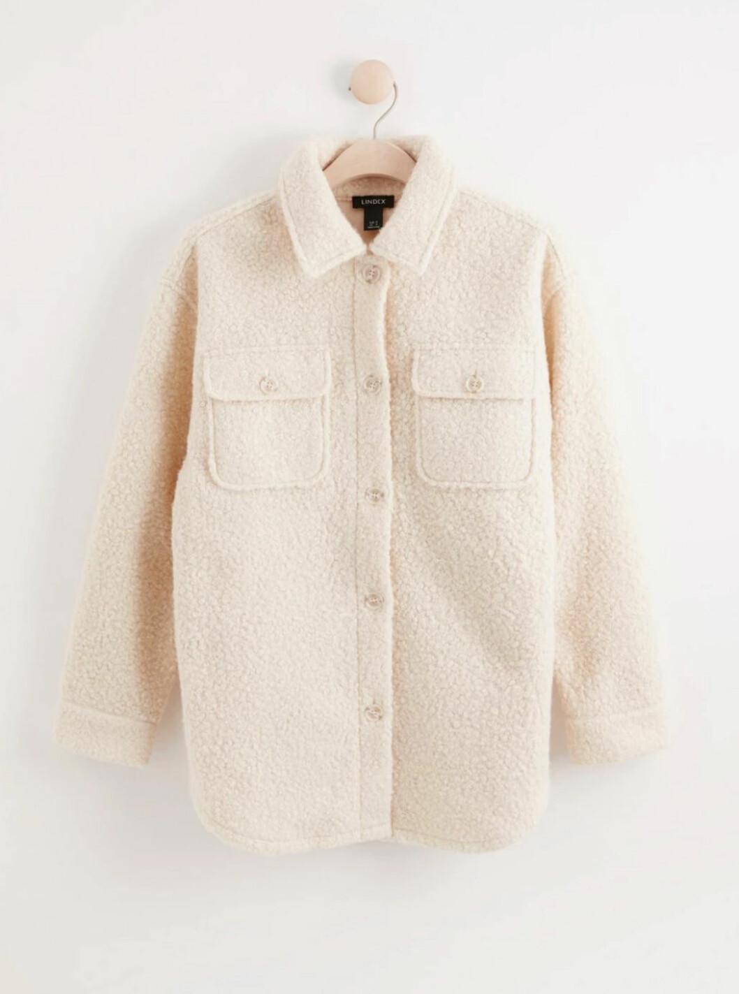 Naturvit skjortjacka från Lindex
