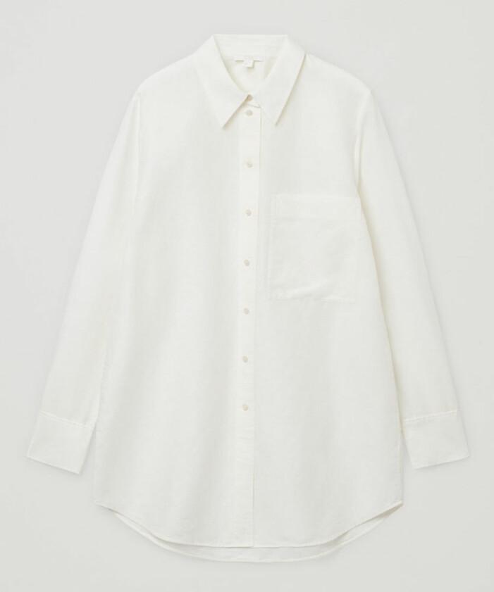 oversized vit linneskjorta för dam 2021