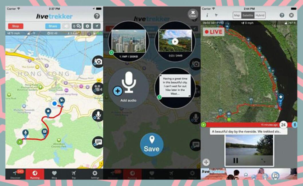 Livetrekker är en app som följer dina spår på resan.
