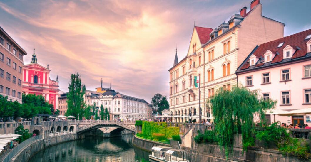 Ljubljana i Slovenien