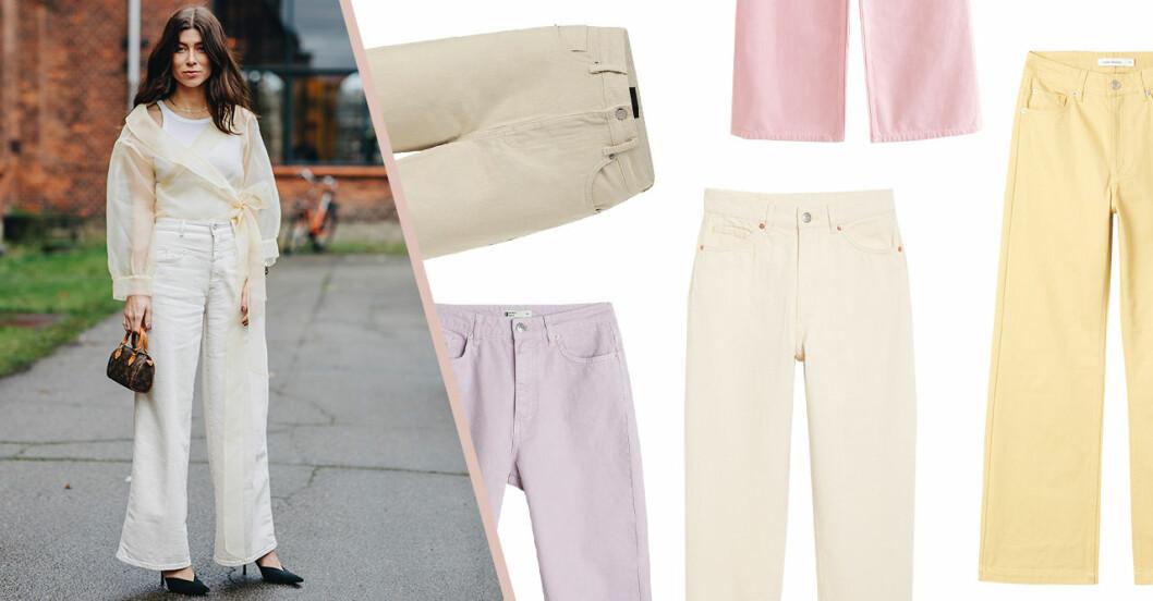 Beige, vita och pastellfärgade jeans till 2020