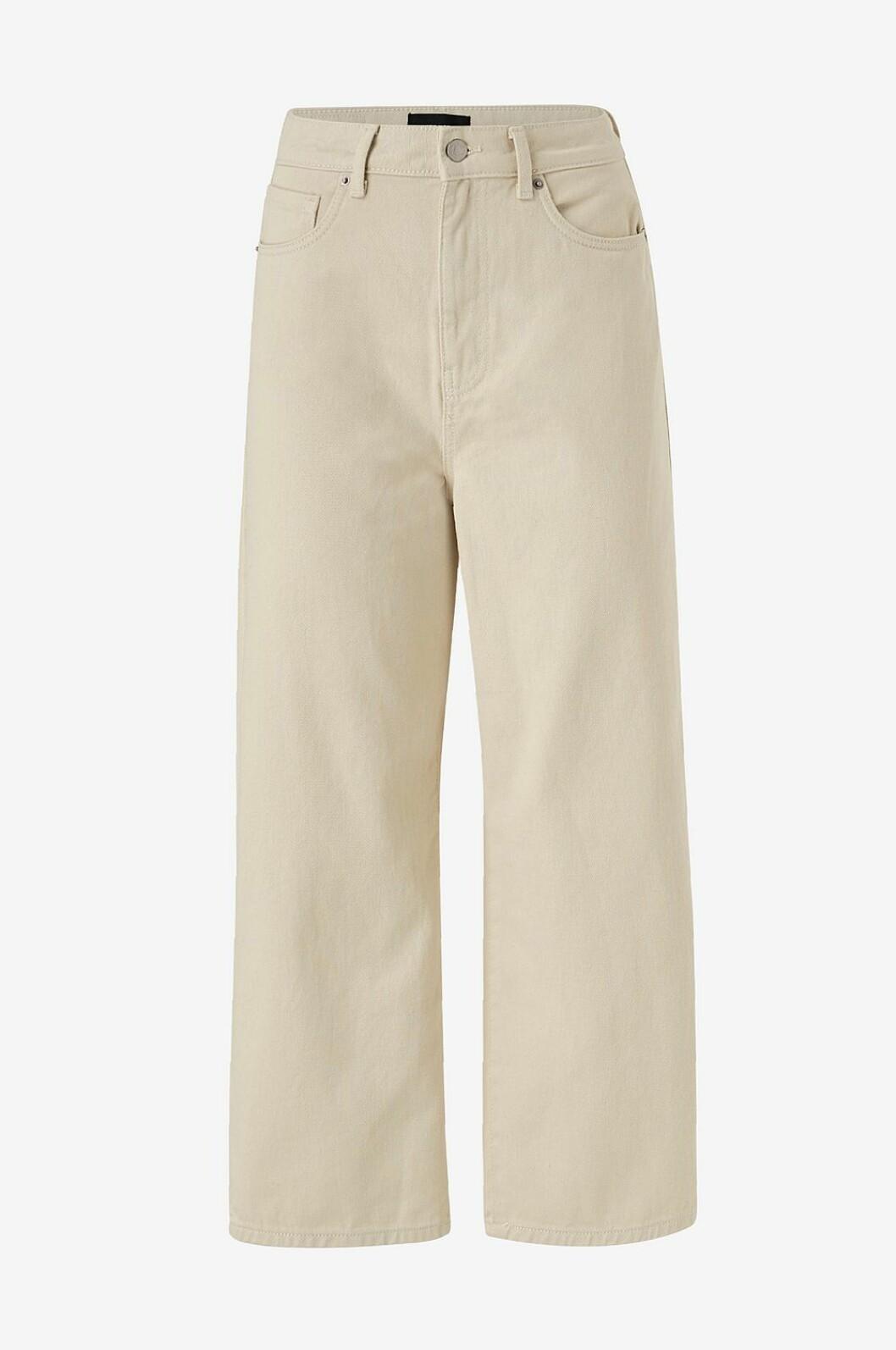 Ljusbeige jeans med vida ben från Vero Moda