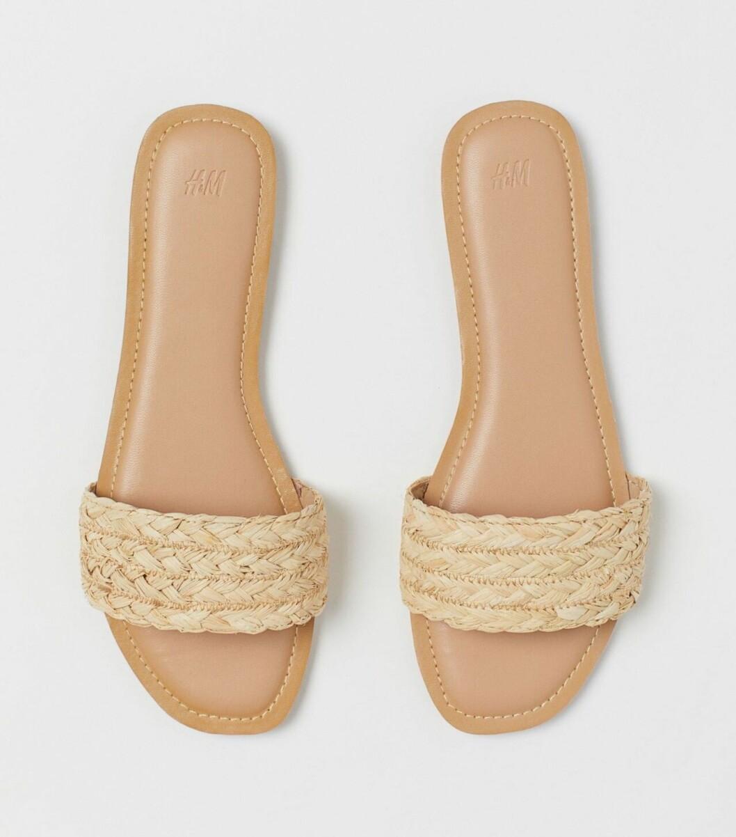 Billiga sandaler med strårem för dam till 2020