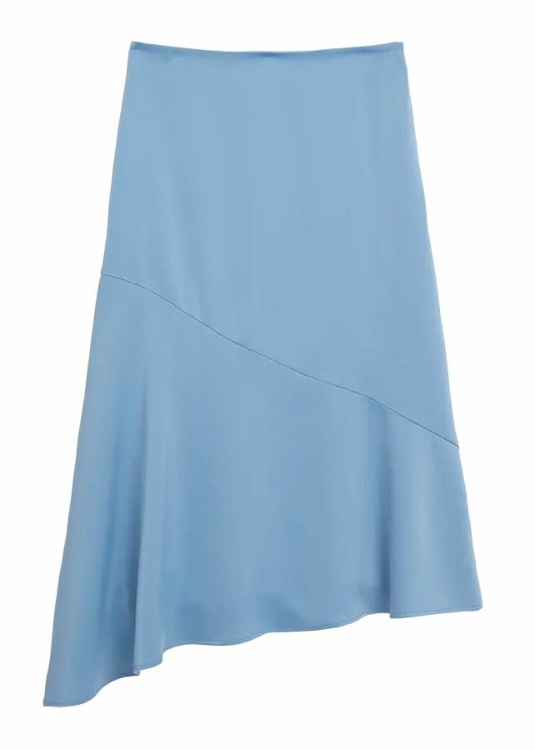 Ljusblå kjol till hösten