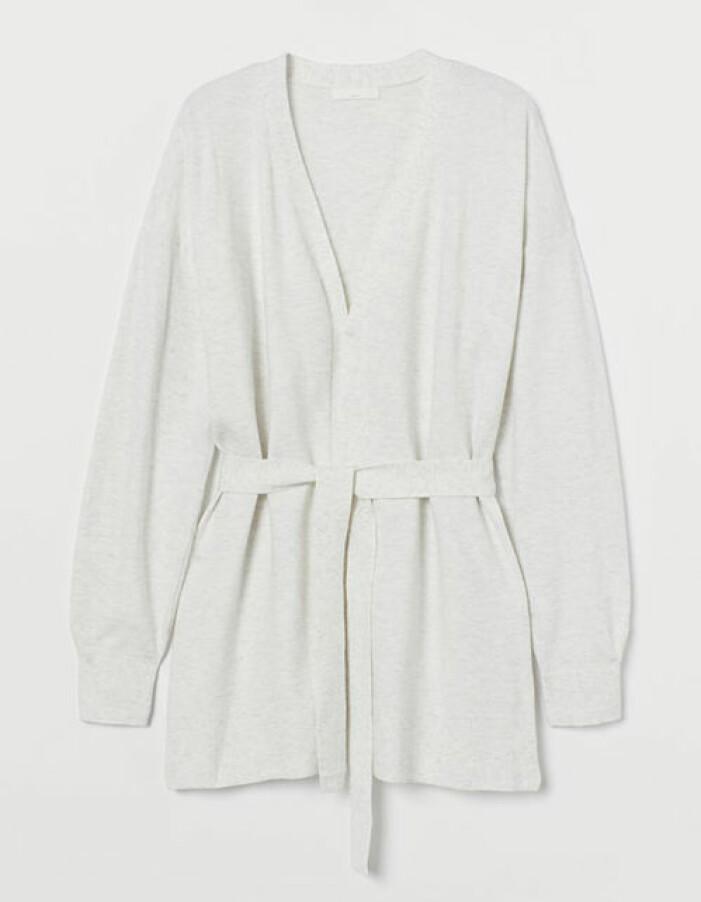 Ljusgrå stickad kofta från H&M