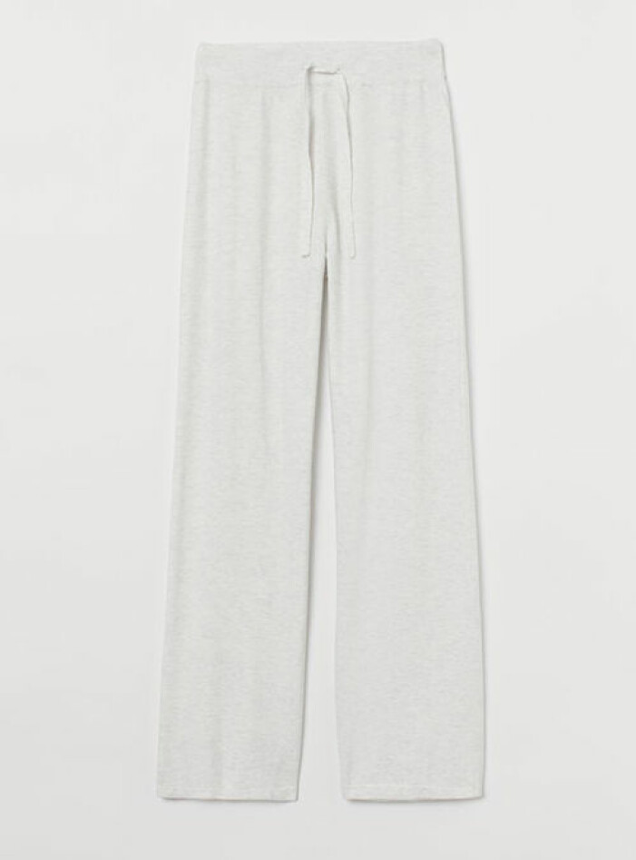 Ljusgrå stickade byxor från H&M