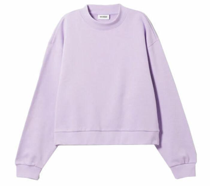Ljuslila sweatshirt från Weekday