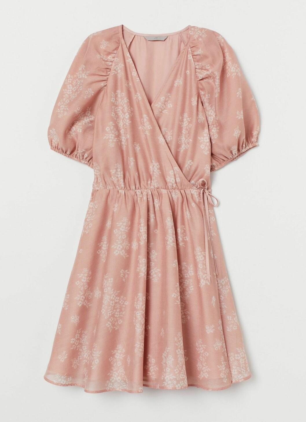 Ljusrosa omlottklänning för dam till 2020
