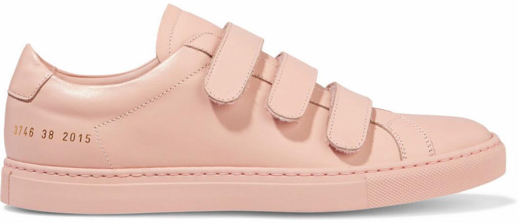 ljusrosa sneakers