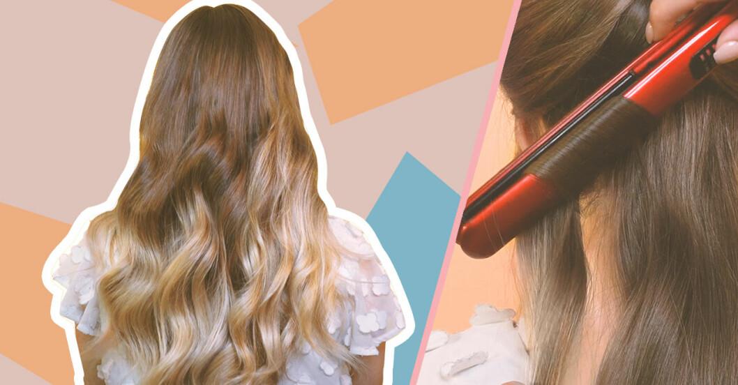 Så lockar du håret med plattång