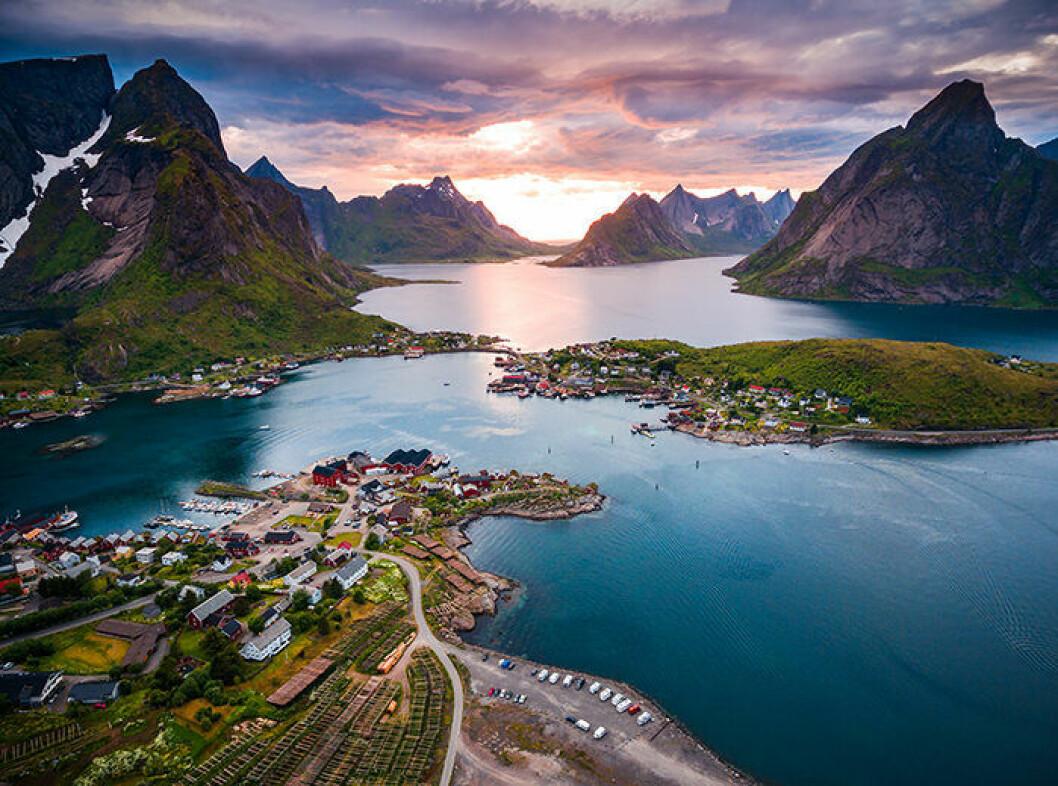 Lofoten i Norge är en vacker plats att besöka