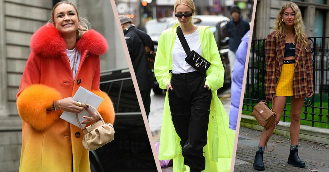 Street style från London fashion week