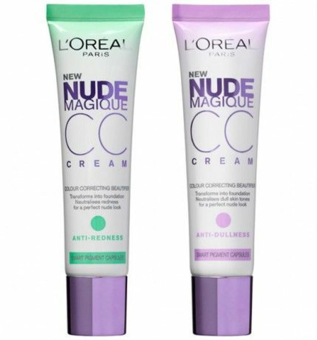 L'Oreal Nude Magique CC Cream ändrar färg vid applicering och kostar 169 kr.