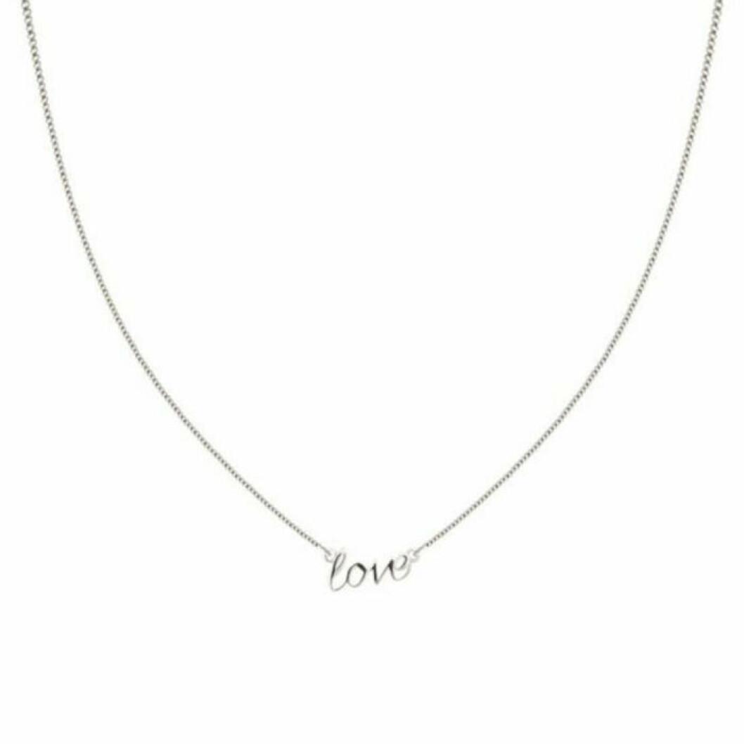 Halsband med kärlekstext