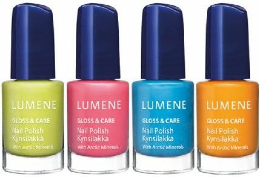 """Lumene """"Gloss & Care"""" Nail Polish, 69 kr/st."""