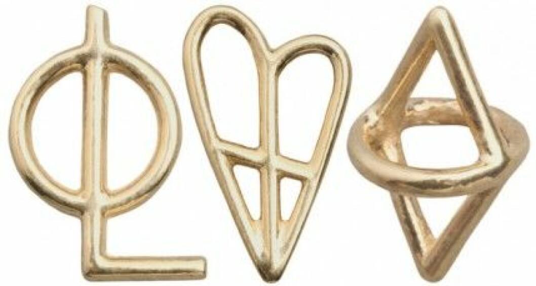 Smyckena är inspirerade av gamla luffarsymboler.
