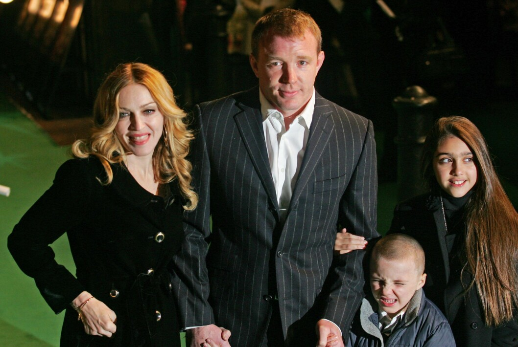 Madonna, Guy Ritchie, Lourdes Leon och Rocco