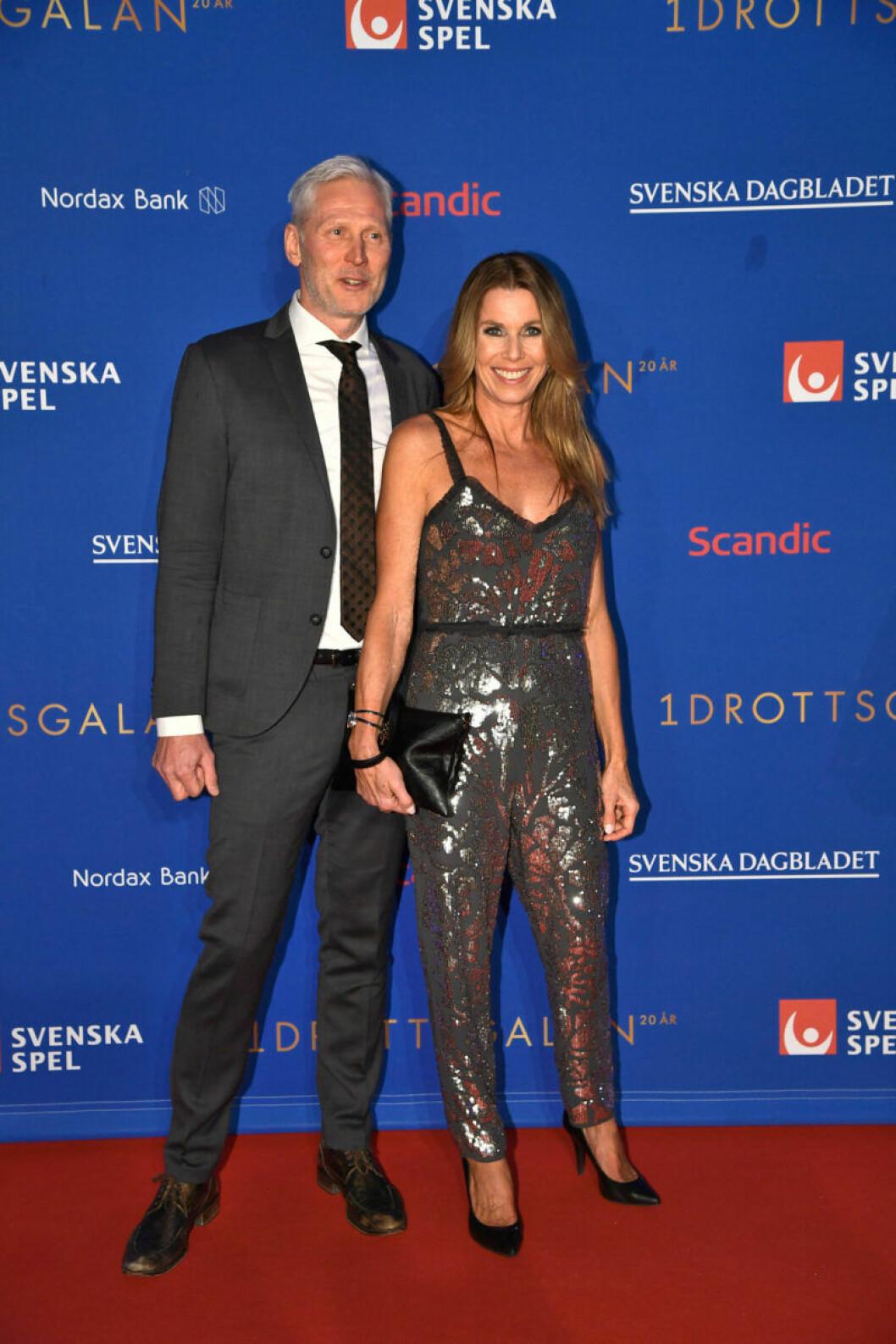 Röda mattan, Magdalena Forsberg med maken Henrik Forsberg