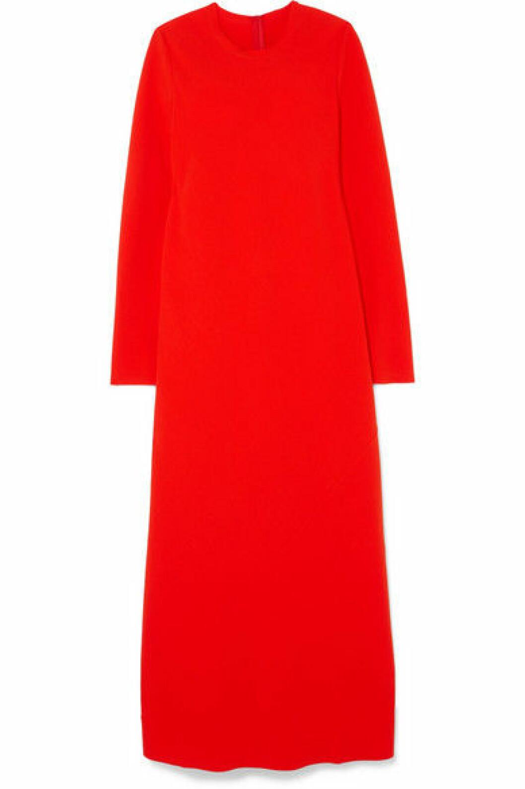 Röd långklänning