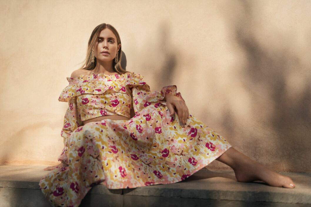 Maja Nilsson Lindelöf x Gina tricot – blommigt set