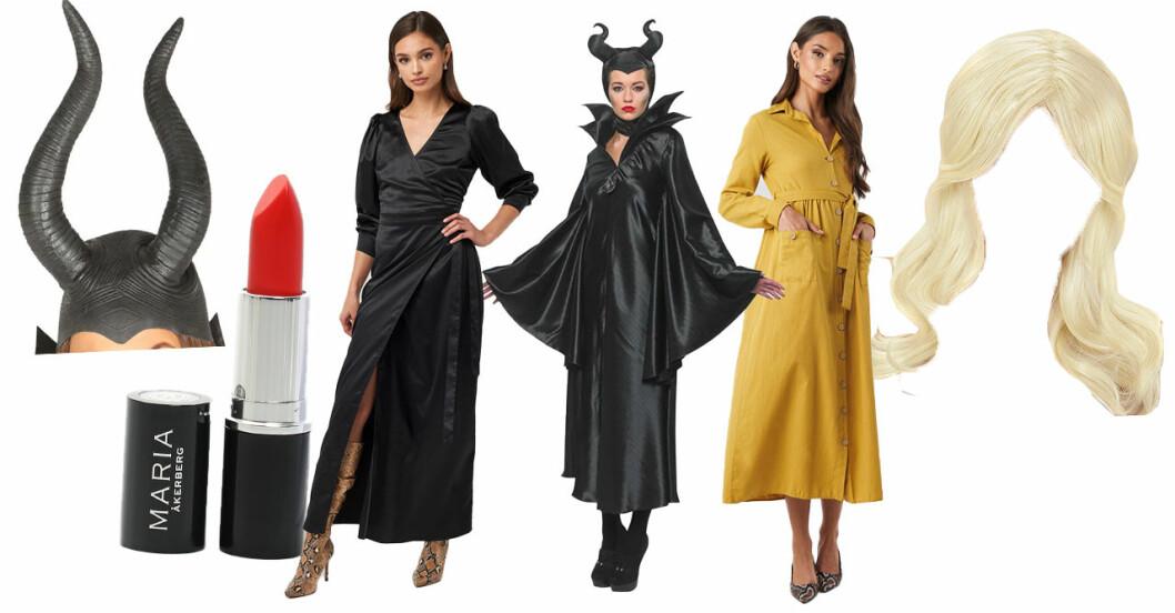 Maleficent och aurora dräkter till halloween