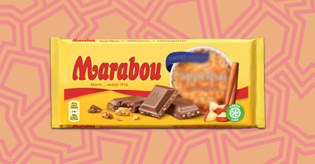 Marabou med smak av äppelpaj