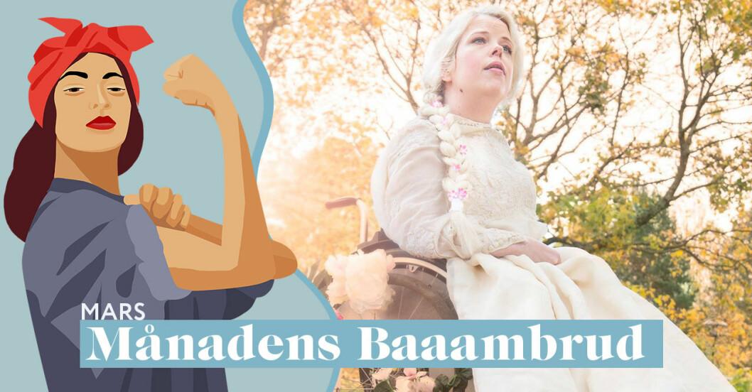 Skådespelaren Maria Wärme är mars månads Baaambrud