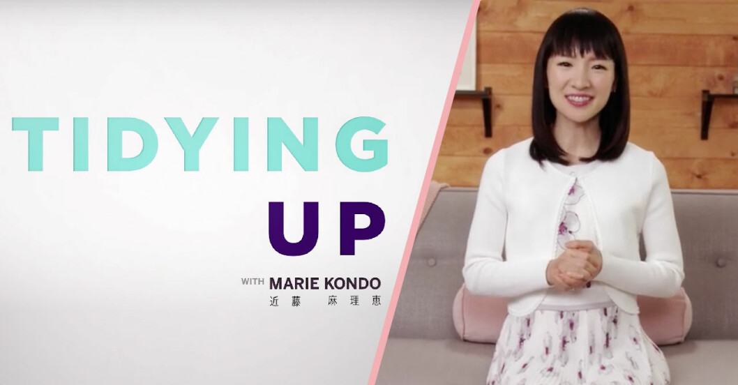 KonMari-metoden med Marie Kondo på Netflix.