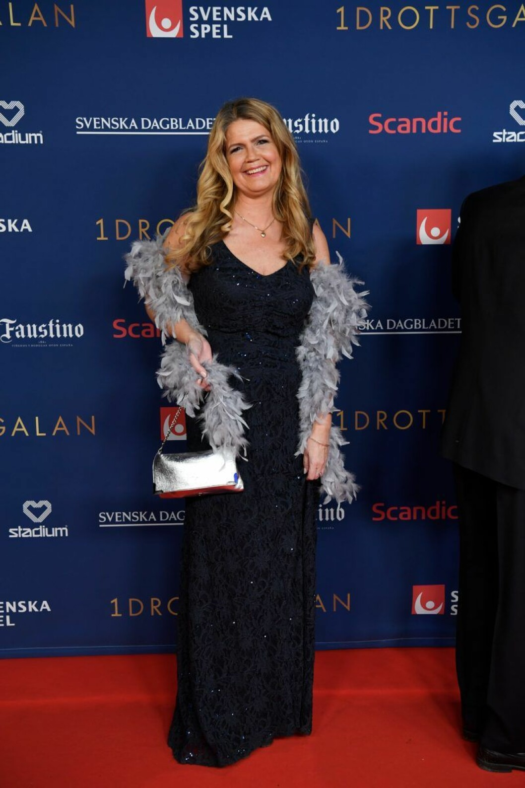 Marie Lehmann på röda mattan på Idrottsgalan 2020