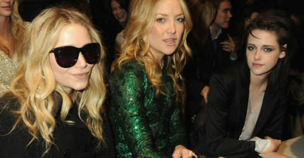 Mary-Kate Olsen, Kate Hudson och Kristen Stewart var några av kändisarna på London Fashion Week.