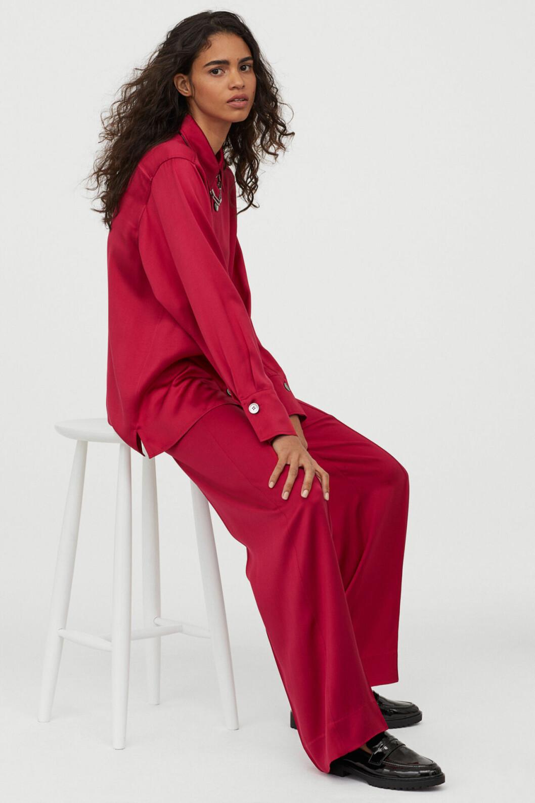 Matchande set: Rosa skjorta i silke