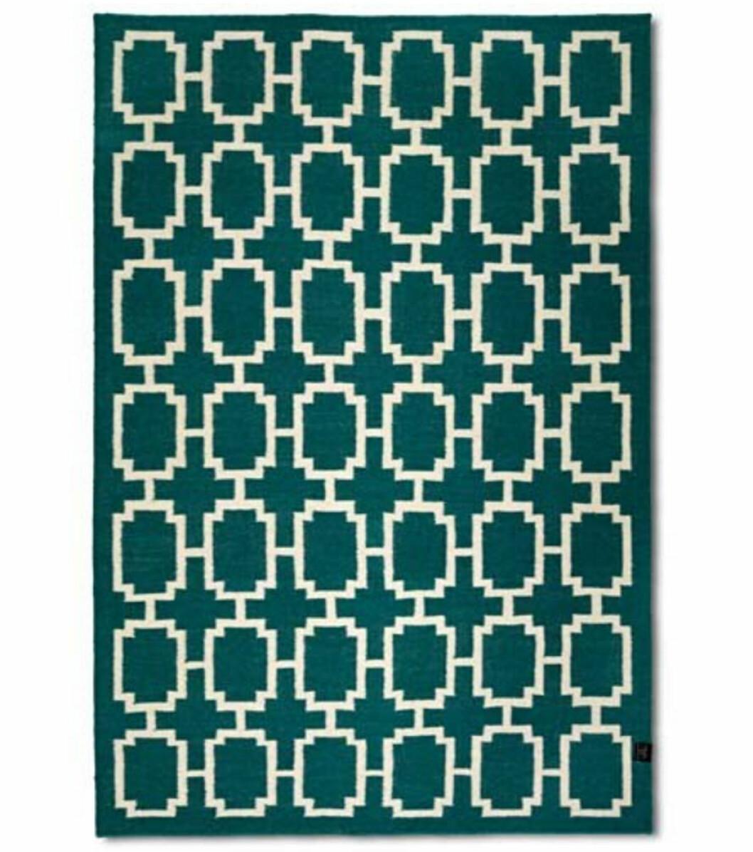 matta grön mönstrad
