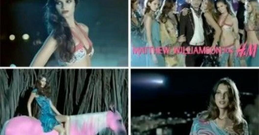 Reklamfilmen för Matthew Williamson för H&M av Johan Renck.