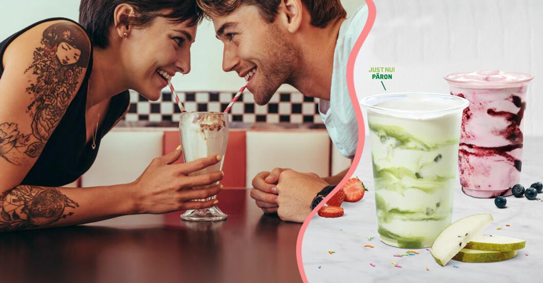 Max nya veganska shake: Dreamshake.