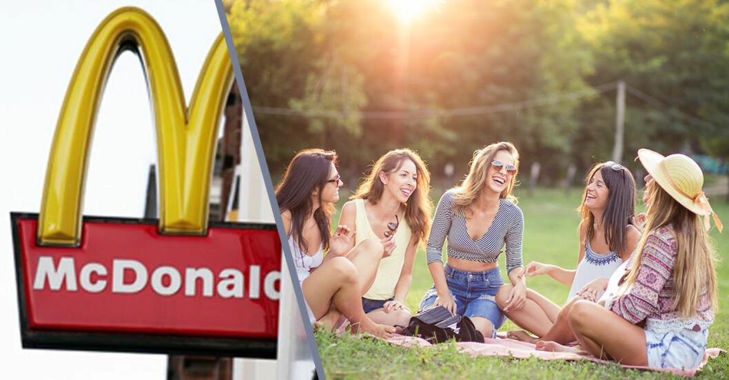 mcdonalds leverar burgare till din picknick