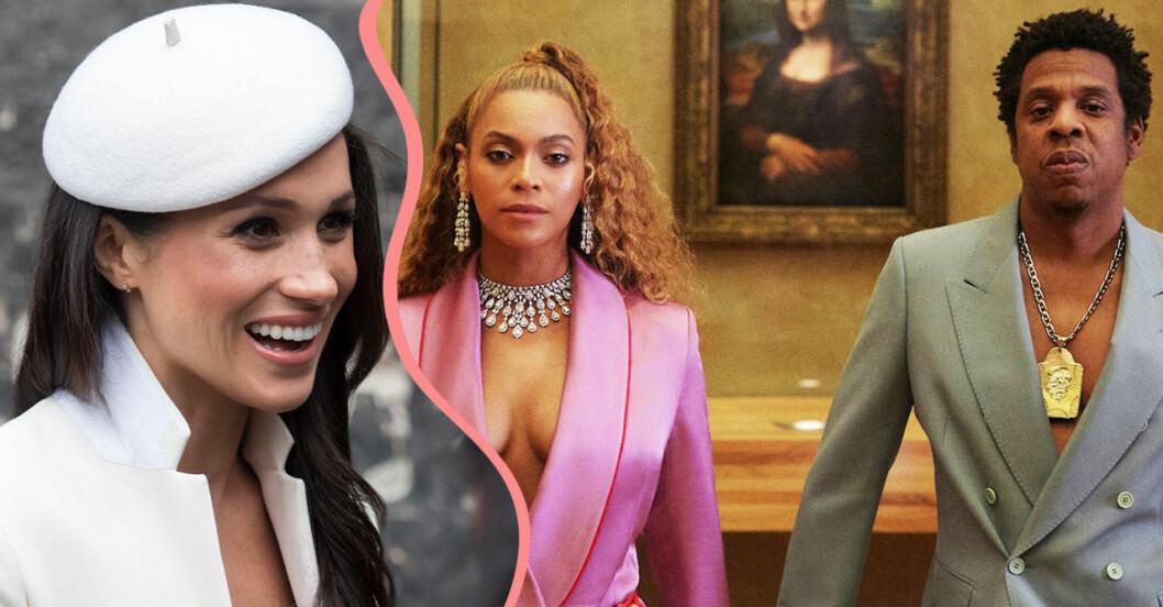 Meghan Markle med Beyonce och Jay Z.