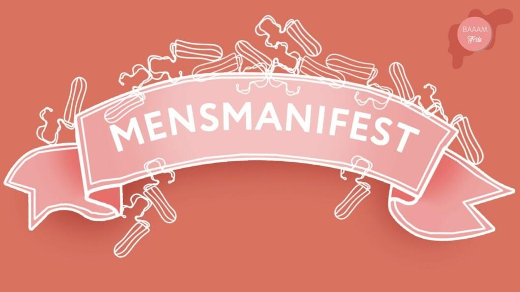 Baaam och Frida splainar mensen, här är vårt mensmanifest!