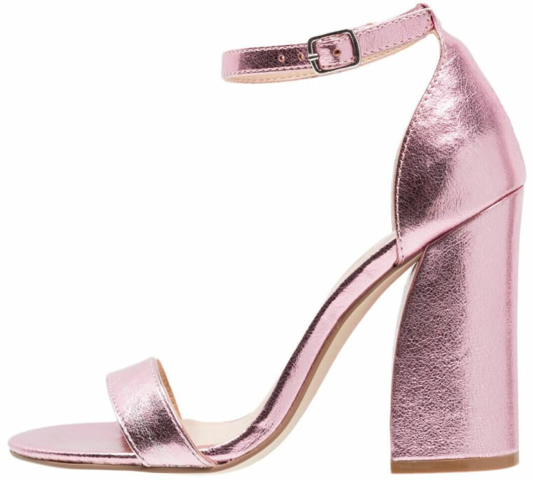 metallic pumps rosa