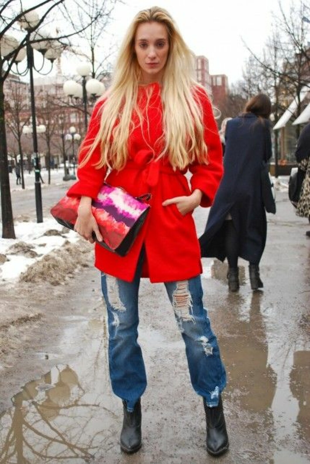 Micelle da Silva på Mercedes-Benz Fashion Week i Stockholm.