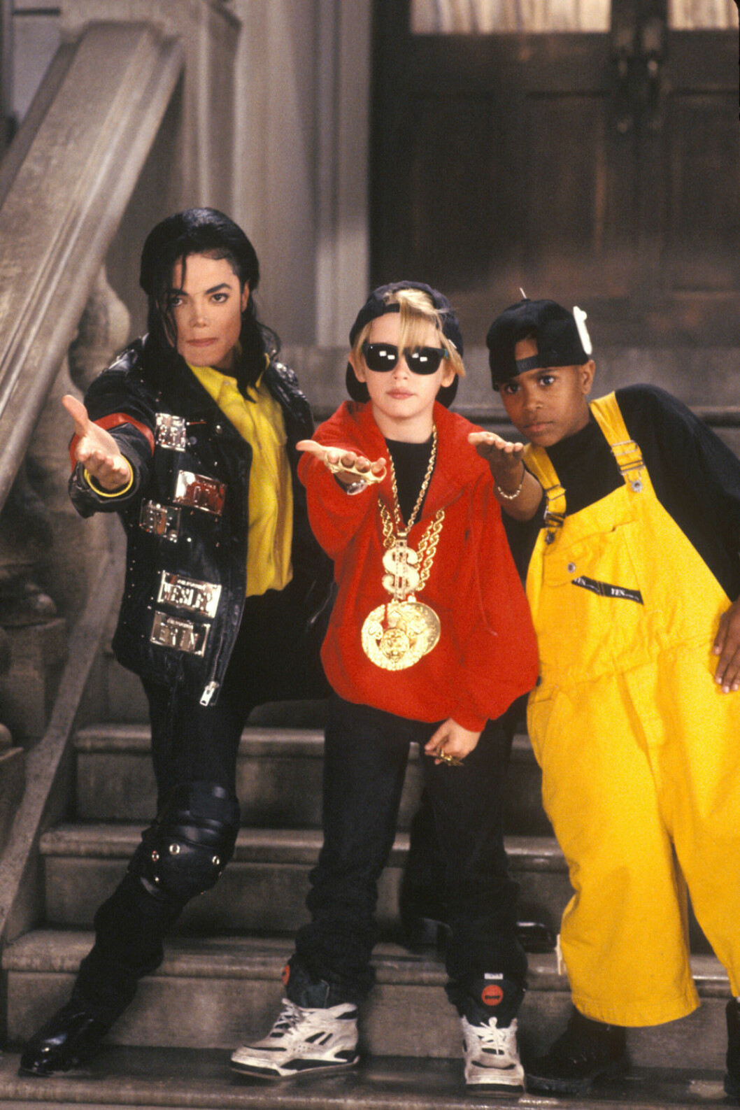 Michael Jackson tillsammans med Macaulay Culkin.