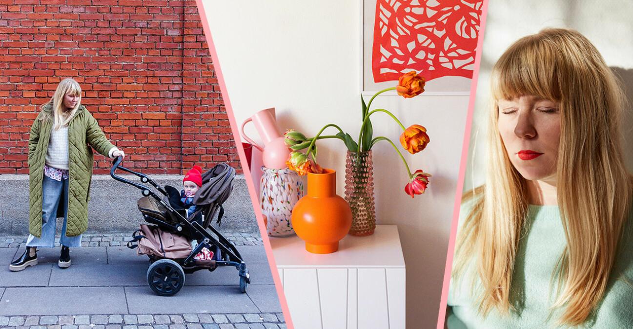 Baaams nya bloggare Midis, Christin Clausen Bruun, med barnvagn och inredning.