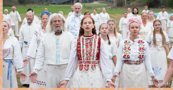 Filmen Midsommar som visar ett midsommarfirande i Hälsingland.