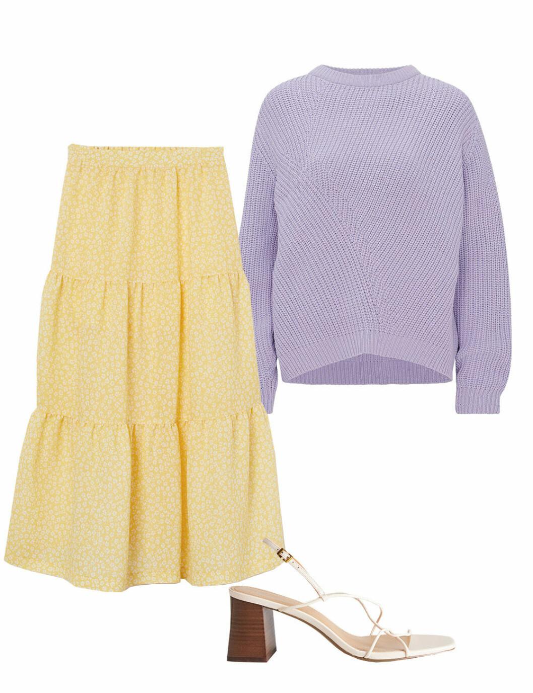 Midsommar när det är kallt ute – kjol och stickad tröja