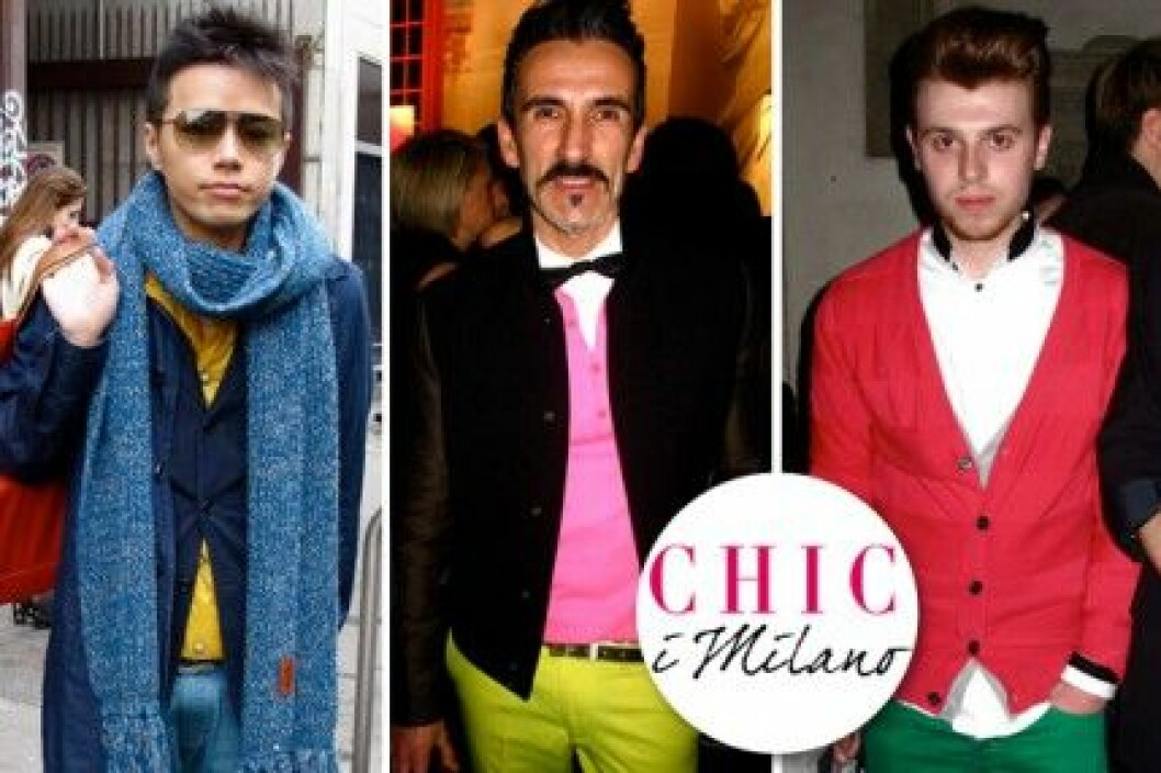 Modemodiga män på Milano Fashion Week, A/W 2011.